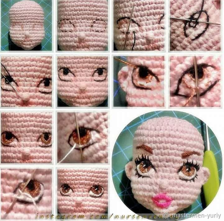 Глазки для вязаных кукол своими руками 21