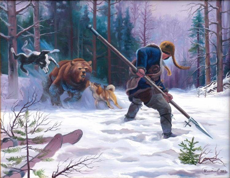 купить картину медведь