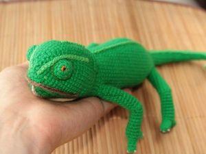 Хамелеон Хамелеоныч, вязаная ящерица. Ярмарка Мастеров - ручная работа, handmade.