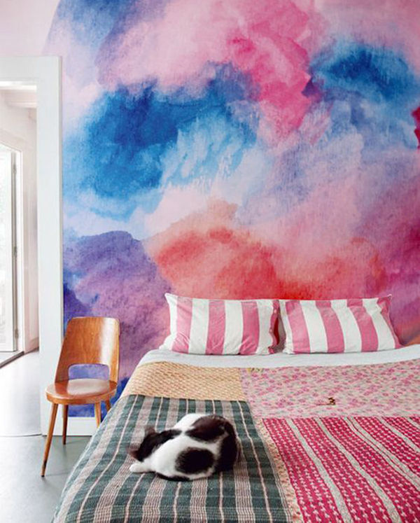 The Tenderest Interior: Abstract Watercolours on Modern Wallpapers, фото № 2