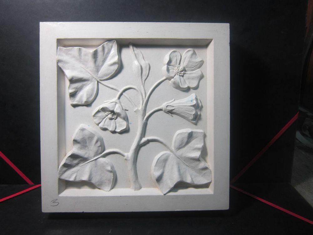 гипсовая плитка, гипсовые цветы