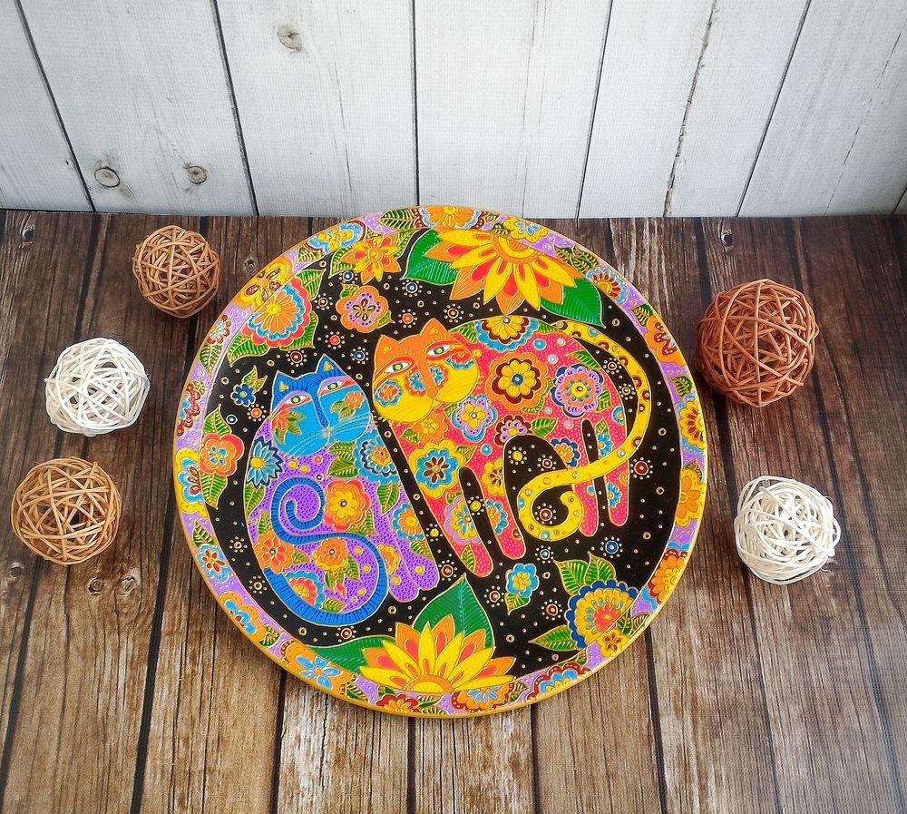 декоративная тарелка, подарок на день рождения