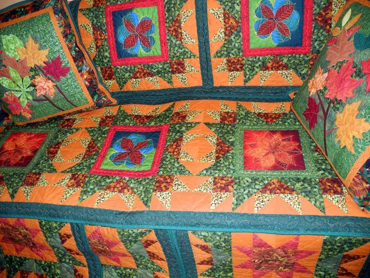 лоскутные покрывала, подушки, салфетки лоскутные