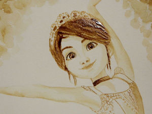 Видео мастер-класс: рисуем цикорием балерину из мультфильма. Ярмарка Мастеров - ручная работа, handmade.