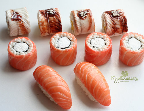 суши-роллы муляж