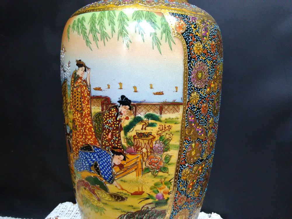 ваза для цветов, ваза с росписью