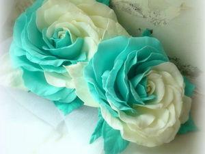 Создаем двухцветную розу «Инь-Янь» из фоамирана. Ярмарка Мастеров - ручная работа, handmade.