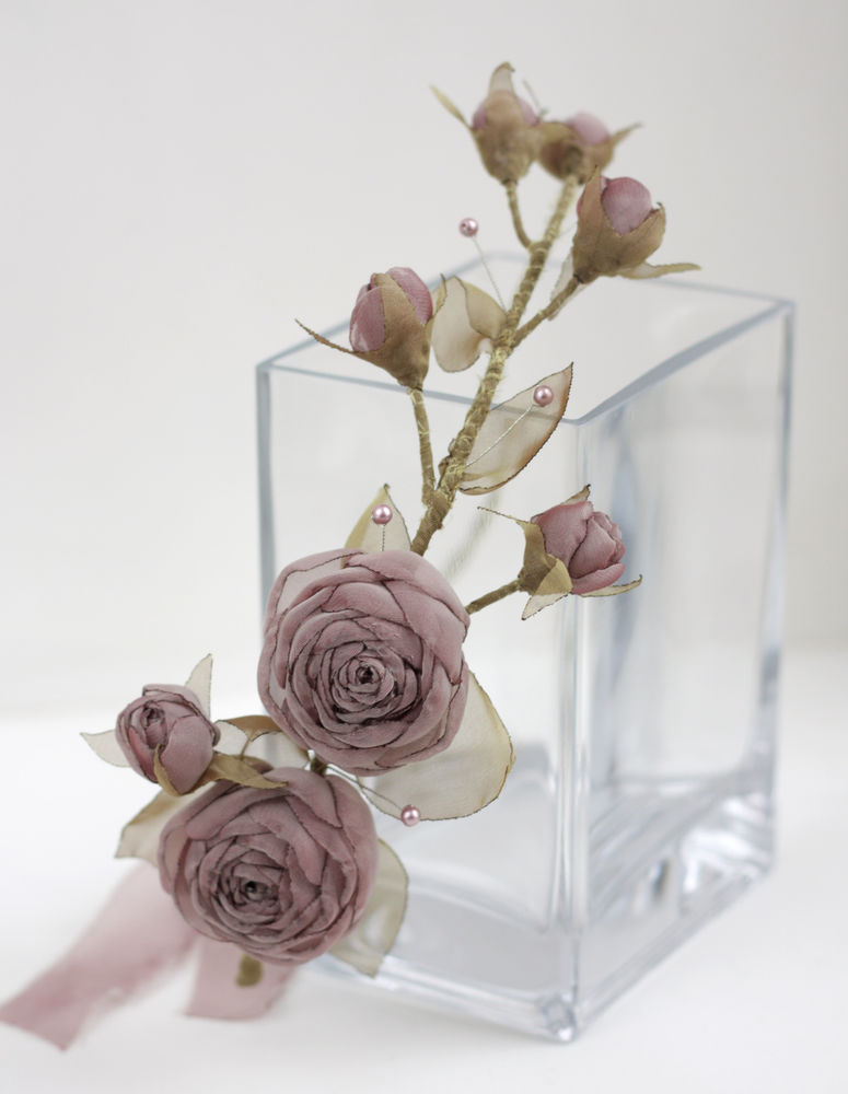 украшение для невесты, цветы из ткани, горелка ты чего