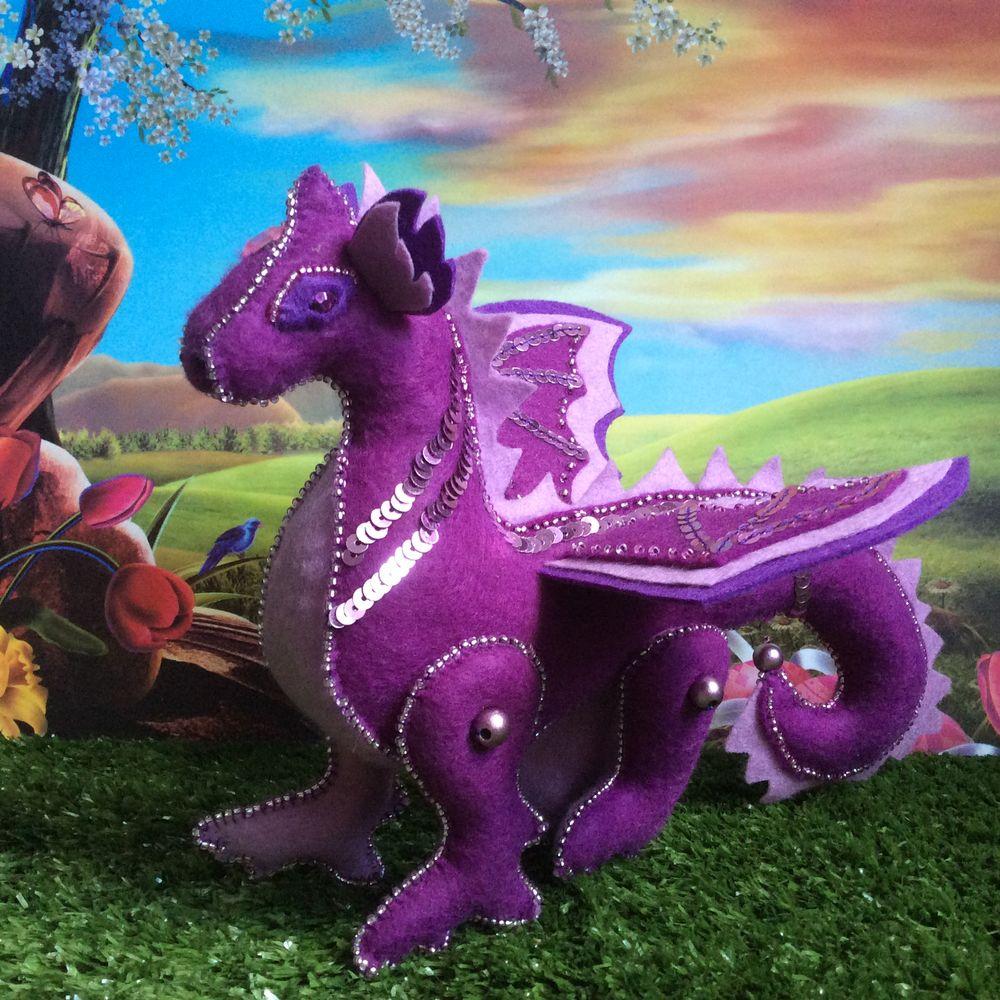 дракон, бисер, текстильная игрушка, драконы