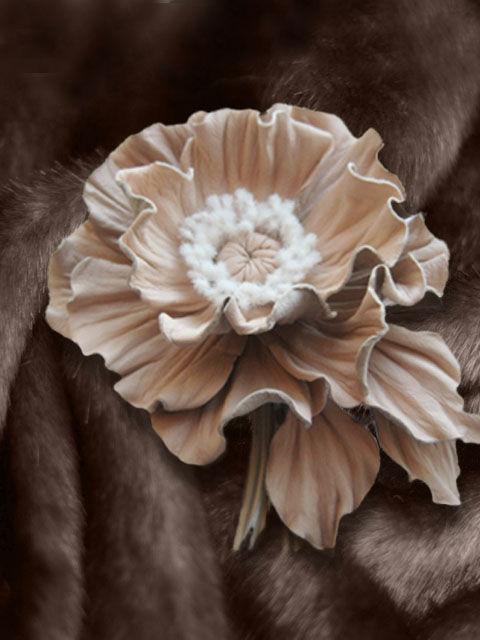 цветы из замши, брошь из кожи, мастер -класс мак, мак из кожи обучение, кожаные аксессуары мак, ободок с цветком мак, кожаный мак брошь