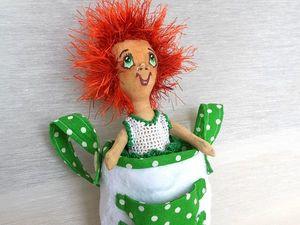 Горошинка в сумке Текстильная кукла. Ярмарка Мастеров - ручная работа, handmade.