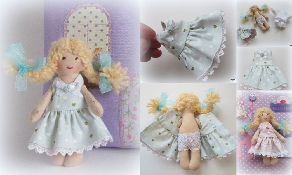 платье для куколки, мастер-класс для детей