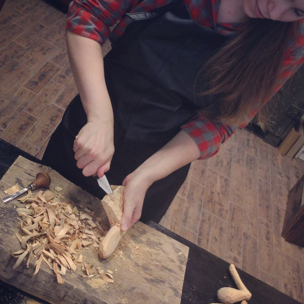 деревянная козочка