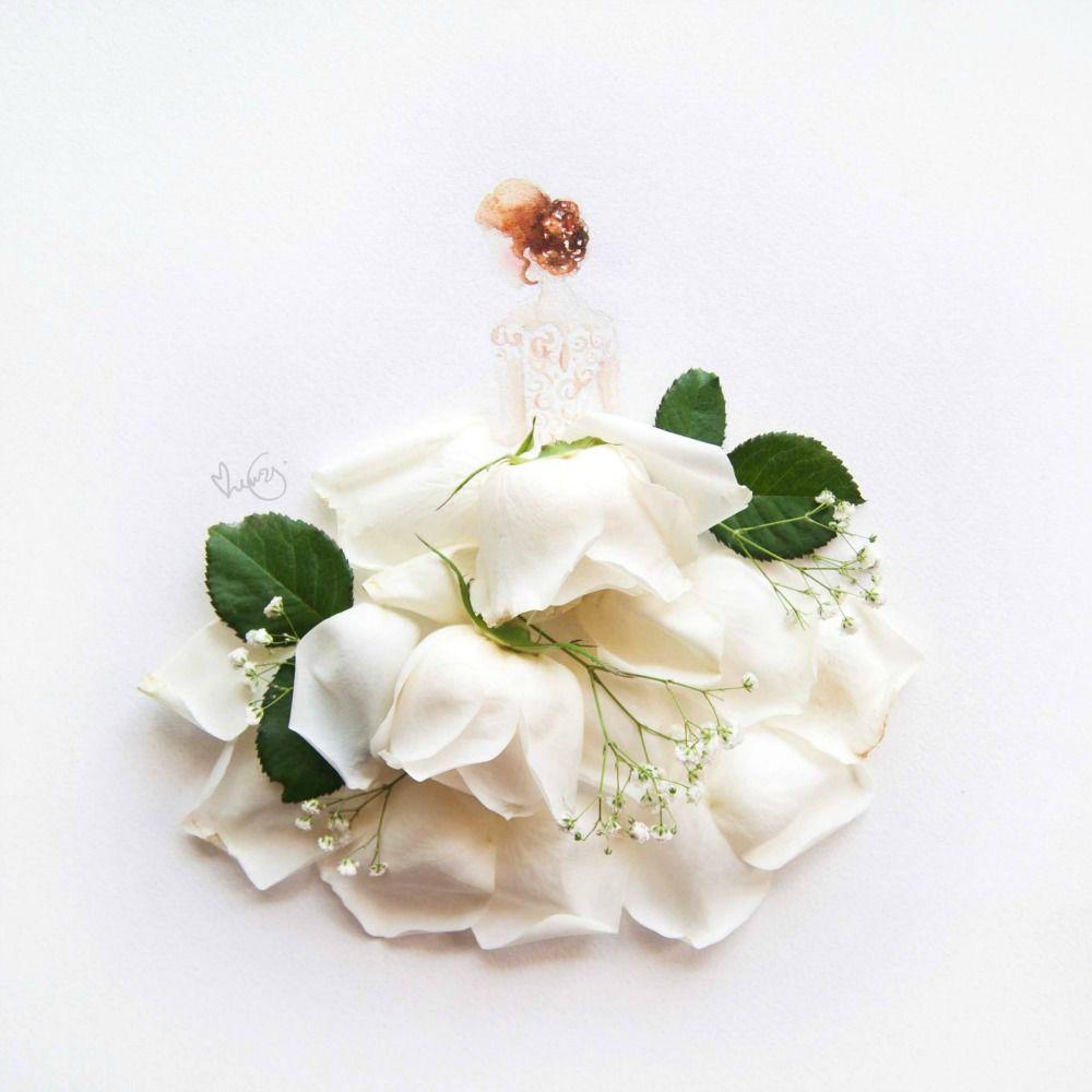 limzy, рождение, цветы акварель
