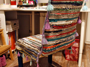 Идея создания оригинального бюджетного чехла для стула. Ярмарка Мастеров - ручная работа, handmade.