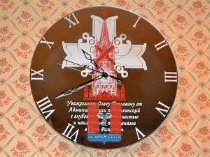Часы настенные на зеркале Кремлёвские войска. Ярмарка Мастеров - ручная работа, handmade.
