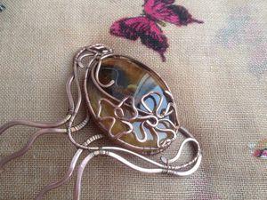 Изготавливаем украшение для волос: медный гребень с симбирцитом. Ярмарка Мастеров - ручная работа, handmade.