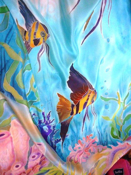 вот, картинки подводного мира батик радостней пусть