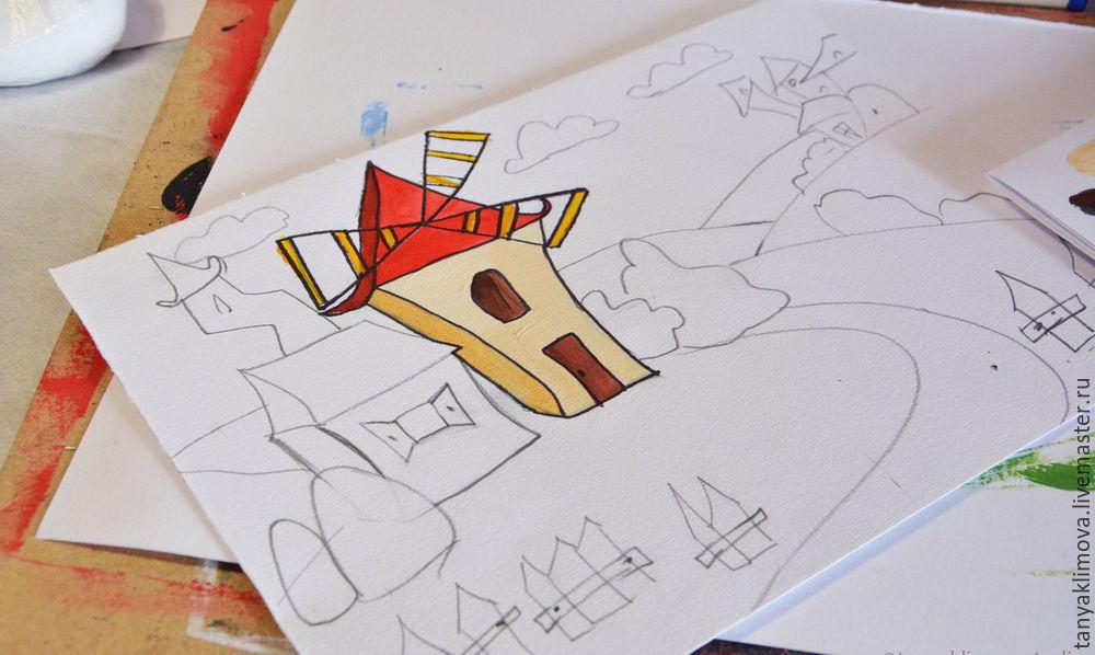 Развиваем детей с помощью аппликации «сказочный город», фото № 11