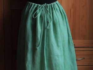Скидка на юбку из льняной вуали!!!. Ярмарка Мастеров - ручная работа, handmade.