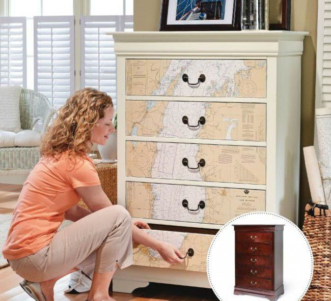 вебинар, мастер-класс по декупажу, декор мебели, декупаж на мебели