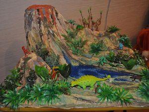 Макет-миниатюра «Эпоха динозавров с вулканом» | Ярмарка Мастеров - ручная работа, handmade