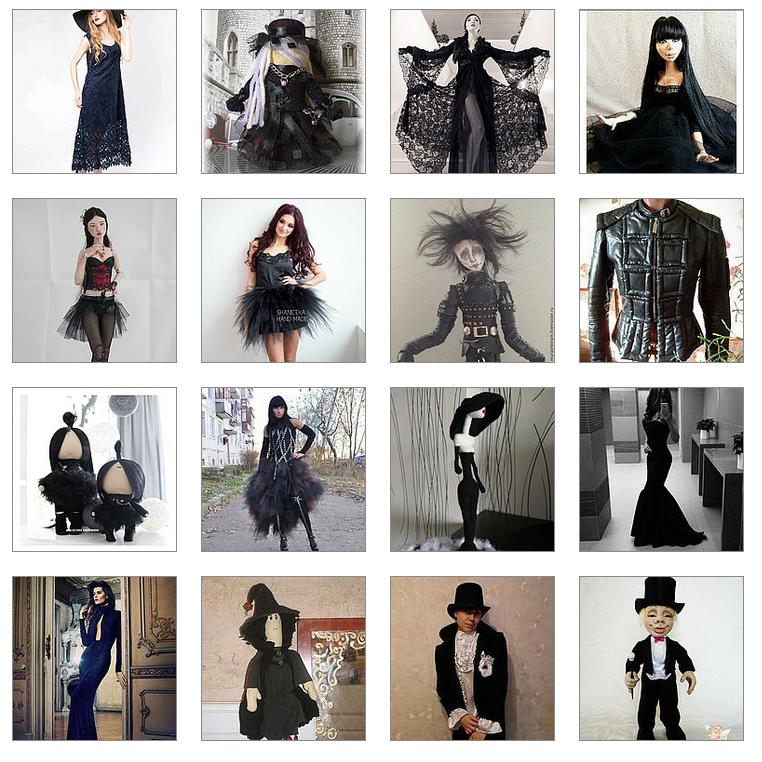 конкурс, готика, платья, одежда
