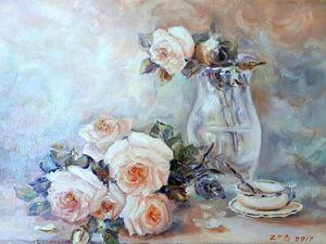 Аукцион на  картины с розами!. Ярмарка Мастеров - ручная работа, handmade.