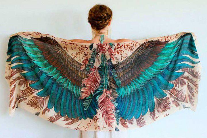 Когда вырастают крылья: завораживающие палантины Розы Хамитовой, фото № 11