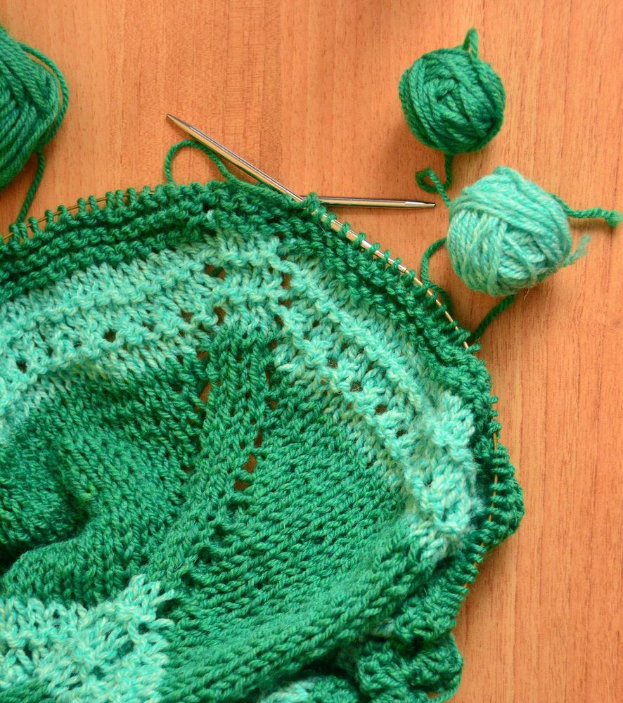 шаль зеленая, красивая шаль купить