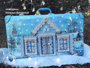 Новая жизнь старого чемодана. Зимняя сказка.. Ярмарка Мастеров - ручная работа, handmade.