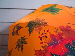 Роспись зонта «Рябина и осенние листья». 2 часть. Ярмарка Мастеров - ручная работа, handmade.