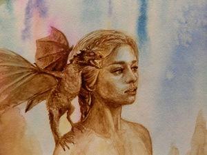 Рисуем портрет Daenerys из телесериала «Игра Престолов». Продолжение. Ярмарка Мастеров - ручная работа, handmade.
