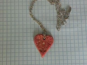 Кулон в виде сердца из полимерной глины. Ярмарка Мастеров - ручная работа, handmade.