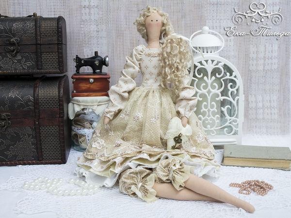 Кукла тильда в бежевом. | Ярмарка Мастеров - ручная работа, handmade