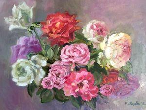 Анонс аукциона! Крымские розы — картина маслом. Ярмарка Мастеров - ручная работа, handmade.
