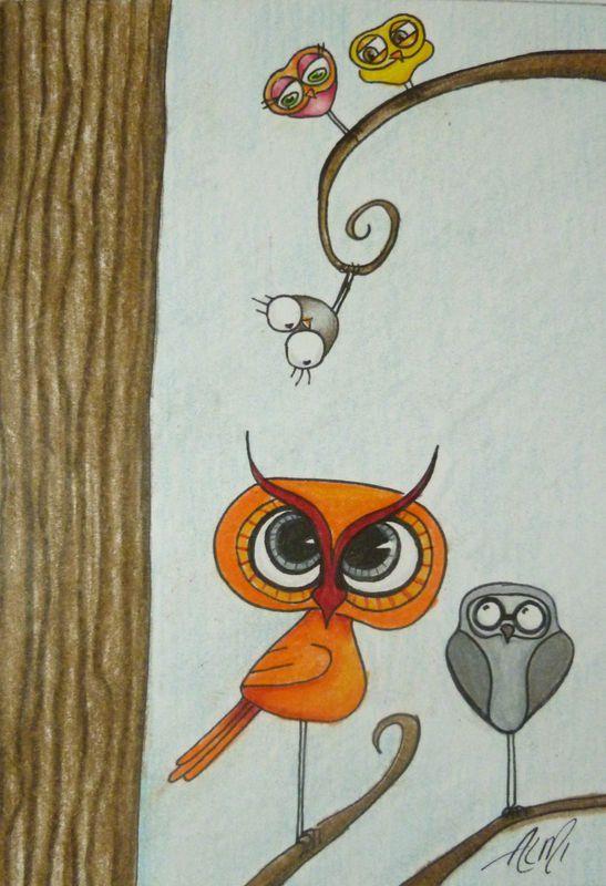 Oops-A-Daisy :: Tippy : Pep : Po : Bosco : Egbert :: ALMI Owls