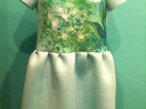 Шьем платье с принтом «Ландыши». Ярмарка Мастеров - ручная работа, handmade.