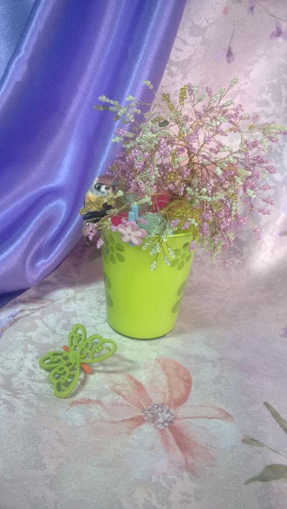 Создаем из бисера весеннее деревце «Вишня в цвету» - Ярмарка Мастеров - ручная работа, handmade
