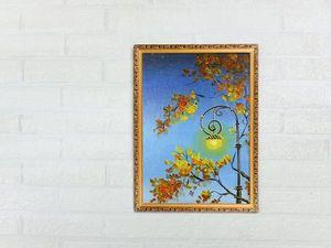 Рисуем акрилом простой осенний пейзаж. Ярмарка Мастеров - ручная работа, handmade.