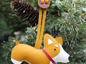 Брелок собака из кожи породы Вельш-корги. Ярмарка Мастеров - ручная работа, handmade.