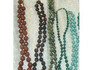 """Мои """"Шарики — бусы"""" ручной работы из натуральных камней. Ярмарка Мастеров - ручная работа, handmade."""