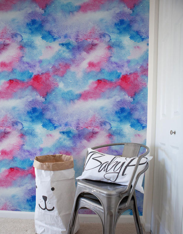 The Tenderest Interior: Abstract Watercolours on Modern Wallpapers, фото № 20