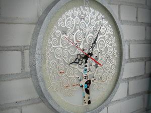 """Часы настенные """"Древо жизни"""" по мотивам Г.Климта со скидкой 20 %!. Ярмарка Мастеров - ручная работа, handmade."""