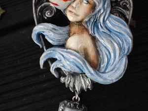 Сегодня ночью. Анонс. Кулон из полимерной глины.Кицунэ. Ярмарка Мастеров - ручная работа, handmade.