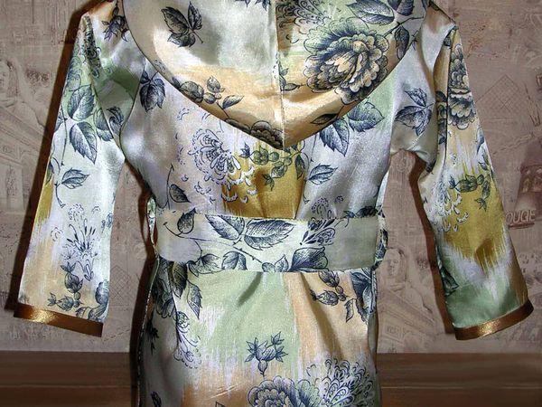 Домашний атласный халат | Ярмарка Мастеров - ручная работа, handmade