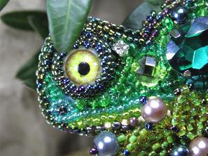 Брошь хамелеон (видеообзор) | Ярмарка Мастеров - ручная работа, handmade