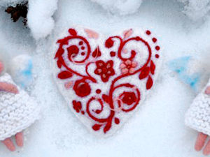 Creating a Wonderful Felted Valentine With Warmth and Love. Livemaster - handmade