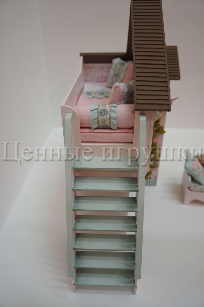 Мастер класс по сборке и оформлению кроватки домика., фото № 29