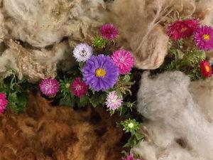 Шерсть крашеная овечья, разные природные оттенки. Ярмарка Мастеров - ручная работа, handmade.